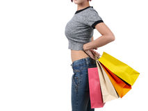 Woman go shopping Royalty Free Stock Photo