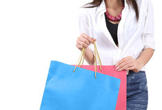 Woman go shopping Royalty Free Stock Images