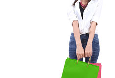 Woman go shopping Royalty Free Stock Photos