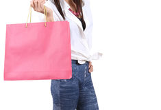 Woman go shopping Stock Photo