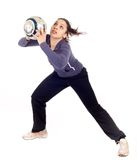 Woman goalkeeper Stock Photography
