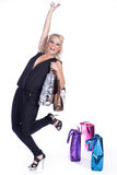 Woman goes shopping Stock Photography
