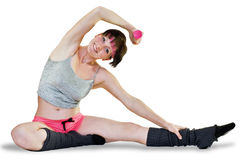 Woman goes in for sports Stock Photo