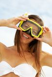 Woman with goggles Stock Image