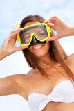Woman with goggles Stock Photo