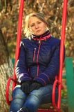 Woman going for a drive on the swing Royalty Free Stock Photography