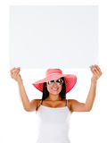 Woman going on holidays Royalty Free Stock Photography