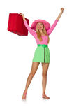 Woman going on summer vacation isolated Royalty Free Stock Images