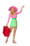 Woman going on summer vacation Royalty Free Stock Photography