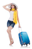 Woman going to summer vacation Stock Photography