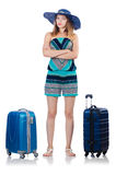 Woman going to summer vacation Royalty Free Stock Photo