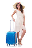Woman going to summer vacation Stock Images