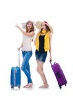 Woman going to summer vacation Stock Image