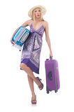Woman going to summer vacation Royalty Free Stock Photography