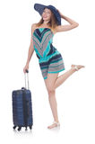 Woman going to summer vacation Stock Photo