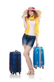 Woman going to summer vacation Stock Photos