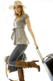 Woman going on vacation Stock Photo