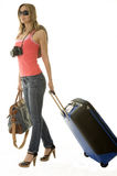 Woman going on vacation Stock Photography