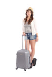 Woman going on vacation. Royalty Free Stock Photos