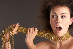 Woman and GOLD Stock Photos