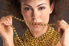 Woman and GOLD #2 Royalty Free Stock Photography