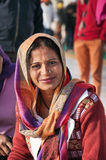 Woman  in Golden Temple. Amritsar. India Royalty Free Stock Photography