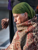 Woman  in Golden Temple. Amritsar. India Royalty Free Stock Image