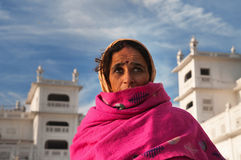 Woman  in Golden Temple. Amritsar. India Royalty Free Stock Images