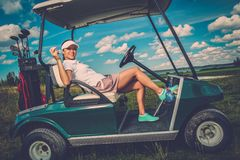 Woman on a golf field Royalty Free Stock Photo