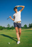 Woman golf player Stock Photos