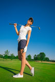 Woman golf player Royalty Free Stock Images