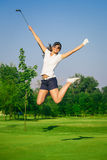 Woman golf player Royalty Free Stock Photos