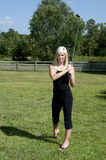 Woman Golfer stock photo