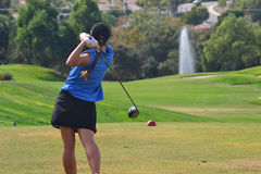 Woman Golfer Royalty Free Stock Photos