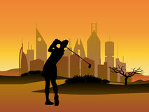 Woman golfer Royalty Free Stock Photography