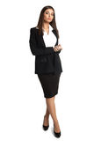 Woman with good figure in business suit Royalty Free Stock Photography