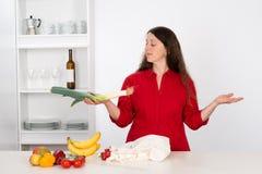 Woman with good food Stock Image