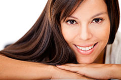 Woman with gorgeous hair Stock Images