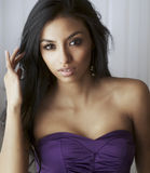 Woman with gorgeous long hair. Beautiful young woman with gorgeous long hair Stock Photo