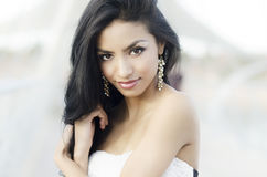 Woman with gorgeous long hair. Beautiful young woman with gorgeous long hair Stock Photos
