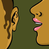 Woman gossip Stock Images