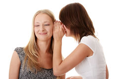 Woman gossiping Stock Images