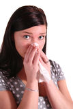 Woman got allergy Royalty Free Stock Image