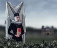 Woman in a gothic clothing Stock Photo