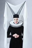 Woman in a gothic clothing Royalty Free Stock Photo