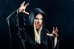 Woman in gothic halloween style Royalty Free Stock Image