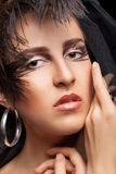Woman with gothic style make up Royalty Free Stock Photography