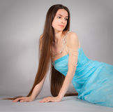 Woman in Gown and Jewelry royalty free stock photos