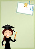 Woman graduate Stock Photo