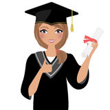 Woman graduate Royalty Free Stock Photography